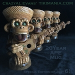 APE 20yr Mug Ukulele Green Eye Edt.